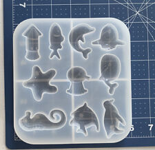 Resin Silicone Mold Whale Dolphin Fish Sea Horse 🦀🦑🐙🐠🐬🐳 Crab Octopus Squid