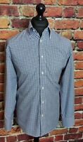 Lacoste Checked Shirt - Size 40 - Medium - M - Blue