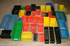 10 Various Sizes/Colours Storage Bins/Boxes For Parts used,some may stack