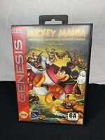 Mickey Mania Complete for Sega Genesis System *TESTED & AUTHENTIC*