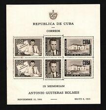 Opc 1951 Quba Airmail Souvenir Sheet Sc#C49a Mint Hinged 42513
