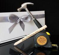 Personalised Hammer SET Tools Grandpa Dad Mum Present Gift for Him Valentines