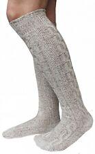 German Wear, LANGE Trachtensocken Trachtenstrümpfe Zopf Socken 70cm Meliert