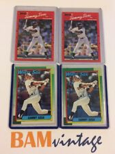 Sammy Sosa RC 1990 Topps Donruss Rookie 4 Baseball Card LOT White Sox MLB