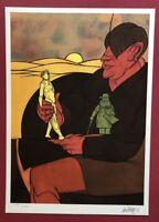 Valerio Adami, Der Sammler, Farblithographie, um 1950, signiert und nummeriert