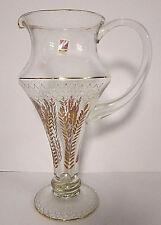 Prächtiger Wasserkrug/Karaffe aus Glas, wunderschöner goldfarbener Dekor Nagel
