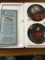 Hamilton Collection Star Trek commander Riker and Capt. Picard Plates with COA