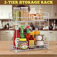 2-tier Storage Rack Holder Kitchen Bathroom Spice Jar Bottle Shelf Organizer