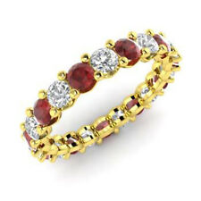 2.03 Ct Garnet Natural Diamond Engagement Ring Round 14K Yellow Gold Size N