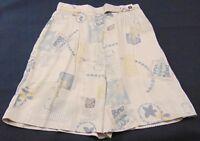 Sportfolio Women's Vintage Hi-Button Tab Waist Pleated Shorts Size 6 Made In USA