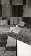 Set parure tappeto + scendiletto 3 pezzi rettangolare new Carvino a quadri. A933