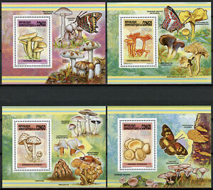 Congo 2013 MNH Mushrooms 8x 1v Deluxe S/S Champignons Fungi Nature Stamps