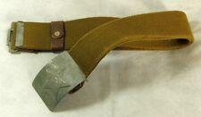 Original 1952 USSR Soviet Russian Army Soldiers Combat Canvas Belt Steel Buckle