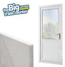 White UPVC Flat Door Panel 28mm 24mm Thick Plastic PVC Infill Foam Filled Window