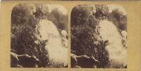 Cascade Da Longchamp Legno Da Boulogne Parigi Stereo Vintage Albumina Ca 1865