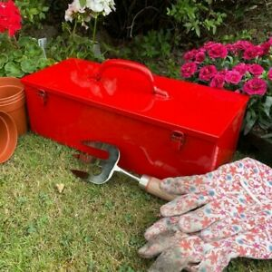 British Made Steel Tool Box - Gloss Red - Great gift idea