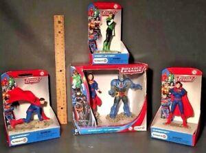 SCHLEICH Justice League Figures SUPERMAN - DARKSEID - GREEN LANTERN NEW Lot of 4