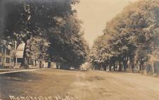 RPPC MANCHESTER, VT Street Scene Vermont 1911 Vintage Postcard