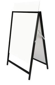 5PCS Steel Black Corflute insertable A Frame Sandwich A board 600x900mm