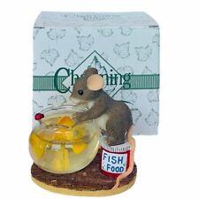 Charming Tails figurine Fitz Floyd mouse anthropomorphic Friendship Golden Fish