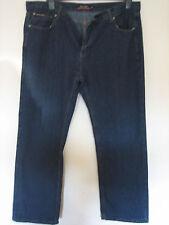 FF12 )  MENS  BLUE PIERRE CARDIN STRAIGHT LEG JEANS ZIP FLY  W 36s LEG 28
