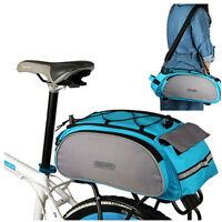 Blue Cycle Cycling Bicycle Bike Rear Frame Seat Backpack Bag Handbag Pannier New