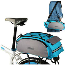 Blue Cycle Cycling Bicycle Bike Rear Frame Seat Backpack Bag Handbag Pannier New
