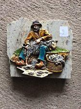 Decoration berger sur plaque de marbre Vintage (2)