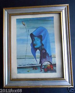 giovanni pelliccioli rara fotolitografia offset 6 colori 1980 firmata surrealism