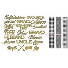 Anna Griffin® Cuttlebug® Congratulatory Dies and Folders Set New and Sealed
