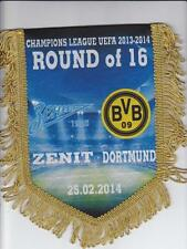 Fußball Wimpel Zenit Borussia Dortmund 2013 2014 Pennant