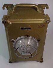 Ancienne Lampe Secours URA Fonte Design Industriel Vintage Cast Industrial Light