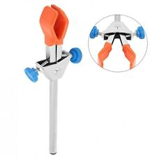 1pc Laboratory Dual Adjustable Flask Clip Clamp Lab Stand For Condenser Test