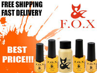 F.O.X ( FOX ) Top & Base Gel LED/UV Rubber , Strong , Cover , No Wipe BEST PRICE