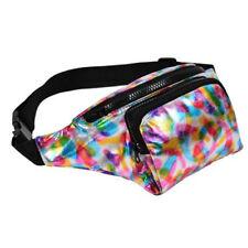 80's Style High Shine Bum Bag - 80's Fancy Dress - Rainbow