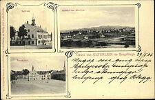 Elterlein Sachsen Erzgebirge 1906 Rathaus Marktplatz Verlag Weissgärber gelaufen