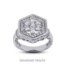Diamonds 950 Plat. Halo Right Hand Ring 1ct F Vs1 Round Earth Mined Certified