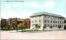 Old California Postcard Oakland CA Fabiola Hospital Street View Buildings