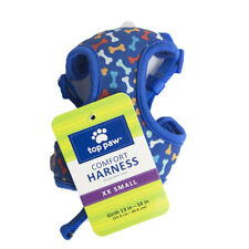 Top Paw Comfort Dog Harness Blue Bones - XXS