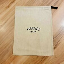 HERMES PARIS BAIN HERRINGBONE DUST COVER BAG Size 9x11 inches 22x28cm