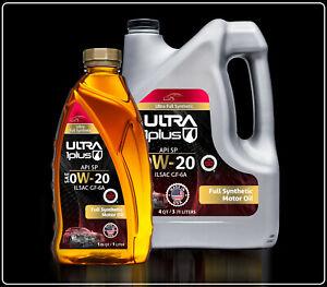 Ultra1Plus SAE 0W-20 Full Synthetic Motor Oil, API SP/GF-6A |  5 Quarts Pack