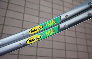 "MAVIC MA2 Rim Pair / Clincher 28"" 700C / 32 H/ Silver / 965g / Felgen MA 2"