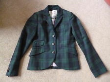 JACK WILLS BLUE/GREEN CHECK TARTAN FITTED JACKET 10