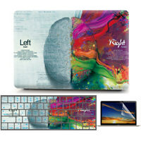 """Left Right Brain Matte Hard Case Shell KB Cover for Macbook Air Pro 11"""" 13"""" 15"""""""