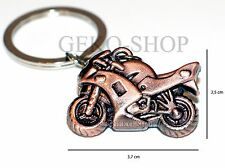 Portachiavi MOTO Motocicletta in bronzo idea regalo uomo motociclista biker gp