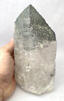 Rare Quartz Point With Chlorite Crystal Mineral Specimen Healing Reiki S9Q50