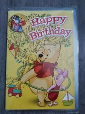 DISNEY WINNIE THE POOH BADGE BIRTHDAY CARD UNISEX childrens GIRLS kids CHARACTER