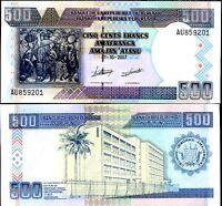 BURUNDI 500 FRANCS 2007 P 38 UNC