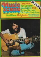 MUSIC SCENE (Mar 1973) Cat Stevens Eric Clapton Deep Purple New Seekers Free