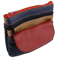 Unisex Leather Coin Purse & Key Chain